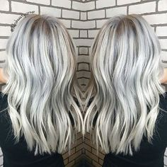 HOW COOL IS THIS ICY BLONDE?? ❄❄❄: Created by @debsbeautycorner #balayageartists #balayage #balayagehair #balayageombre #balayagehighlights #iceblonde #whiteblonde #silverhair #platinumhair #whitehair #ashblonde #blondebalayage #blonde #beachwaves #beachhair #highlights #babylights #ombre #ombrehair #hairpainting #hairpaint #colormelt #freehandcolor #livedincolor #hairinspo #hairofinstagram