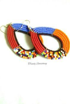 African earrings Women earrings African Jewelry Maasai