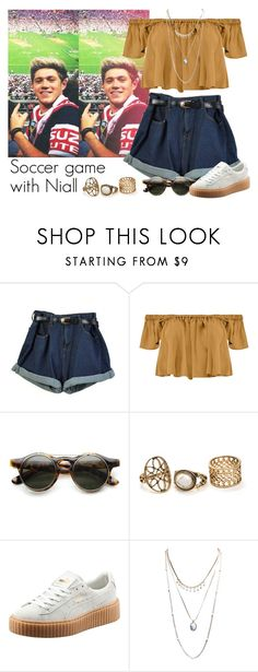 """Soccer game with Niall"" by direction-of-the-summer ❤ liked on Polyvore featuring Boohoo, Puma and Wet Seal"