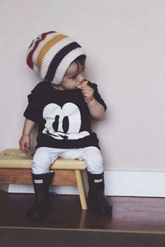 Just precious! See my nephew ij wearing this. Mickey and Hunter boots; cute wardrobe