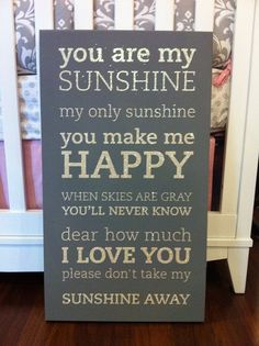 So cute! You are my sunshine sign :)