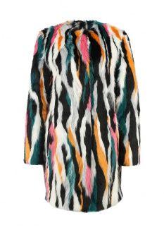 Шуба Topshop, цвет: мультиколор. Артикул: TO029EWGZO26. Женская одежда / Верхняя одежда