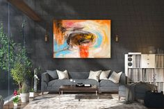 Large Painting on Canvas,Original Painting on Canvas,modern wall canvas,abstract originals,huge canvas painting Contemporary Abstract Art, Abstract Wall Art, Interior Design Programs, Extra Large Wall Art, Hanging Art, Textured Walls, Home Decor, Bedroom Paintings, Decorations