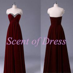 Burgundy prom dress long prom dress / dark red by ScentofDress, $95.00