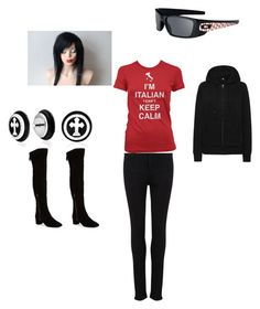 """""""My style"""" by harleyquinn10145 ❤ liked on Polyvore featuring moda, Paige Denim, Uniqlo, Oakley, Bling Jewelry ve Nine West"""