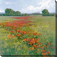 Kim Coulter 'Red Poppies II' Giclee Canvas Art | Overstock.com Shopping - Top Rated Canvas