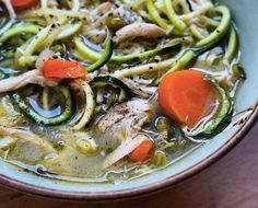 Spiralized Soup: Chicken Noodle Soup With Zucchini Noodles