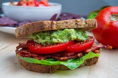 "Pesto Guacamole BLT -=- You Had Me at ""Bacon"", The Avocado Looks Melt In Your Mouth Yummy !!"