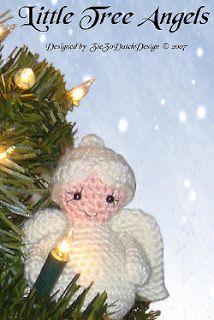 Little Angel for the Christmas tree. free crochet pattern