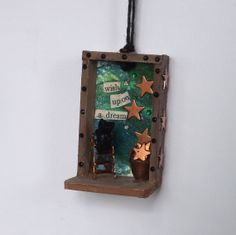 """""""Wish upon a dream""""  Kitty, decoration, Miniature Diorama Ornament Shadow Box by PitterPatterPolymer, $26.00 <3 <3 <3"""