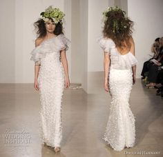 Douglas Hannant 2011 bridal gown collection - asymmentric one-shoulder ruffle…