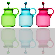 bright colored pitcher. Random Mara factoid: I love colored glass bottles... like none other