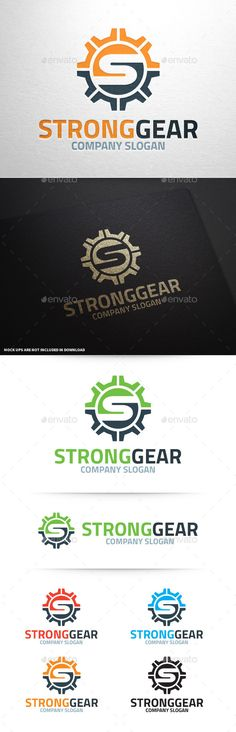 Strong Gear  Letter S Logo — Vector EPS #strong #letter S • Available here → https://graphicriver.net/item/strong-gear-letter-s-logo/10373953?ref=pxcr