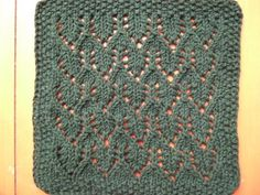 Small Arrow Cloth, Knit, Worsted 10ply, US7 (4.5mm)