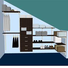 Surprising Useful Ideas: Attic Renovation Slanted Ceiling attic lighting ideas. Small Attic Room, Small Attics, Attic Rooms, Attic Spaces, Attic House, Attic Playroom, Bedroom Closet Doors, Attic Closet, Bedroom Wardrobe