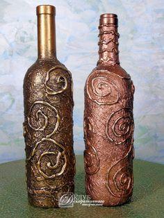 "Deco botella №14, color - ""bronce antiguo"""