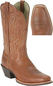 $170 Ariat® Ladies Russet  Rebel Legend Western Boot for Wider Widths