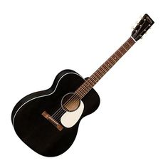 Martin introduces some fantastic new models in the 17 Series. This guitar, the 000-17, is featured in a stylish new satin Black Smoke finish. It features a sitka spruce top and mahogany back and sides