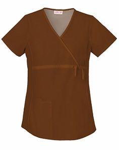 Cherokee Flex-I-Bles Maternity Wrap Top 2892 Maternity Scrubs, Medical Scrubs, Scrub Tops, Princess Seam, Top Stitching, Cherokee, Wrap Style, Suits, Women
