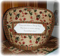 Country Floral #Pot of #Tea Quilted #Cozy Traditional by AWordFitlySpoken, $22.50