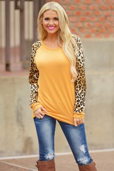 Baby It's A Wild World Top - Mustard from Closet Candy Boutique