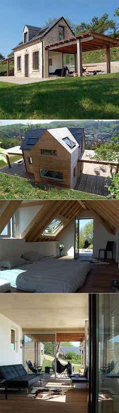 Idealny dom na wąską działkę. ~ Great pin! For Oahu architectural design visit http://ownerbuiltdesign.com