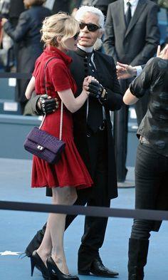 Purple Chanel flap bag!