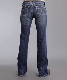 Take a look at the Indigo Rhinestone 816 Bootcut Jeans - Women on #zulily today!