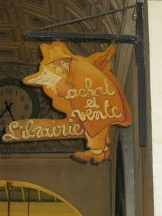 book shop - Jousseaume bookstore sign-board, in Galerie Vivienne, 75002, Paris
