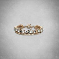 Womens Jewel Flower Bracelet
