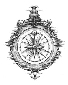 nautical compass tattoo - Google Search