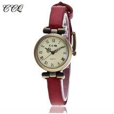 CCQ Brand Fashion Roma Vintage Cow Leather Bracelet Watch Casual Women WristWatch Luxury Quartz Watch Relogio Feminino 1909