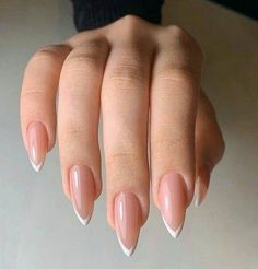 Simple Acrylic Nails, Almond Acrylic Nails, Best Acrylic Nails, Simple Nails, French Nails, Milky Nails, Fire Nails, Neutral Nails, Minimalist Nails