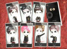 mini CARD iPhone ver. | @ 30K IDR (8ea) | created by +Ratna Har (Little Lumut) | 4 USD