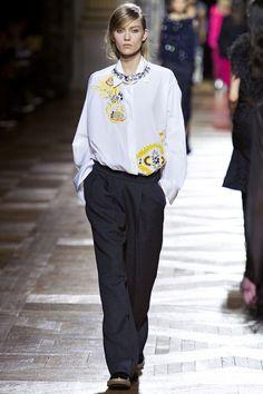 Dries Van Noten | Fall 2013 Ready-to-Wear Collection | Katya Riabinkina Modeling | Style.com
