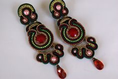 Soutache Ear Clips - Fairy Tales of the Orient | by BeadsRainbow