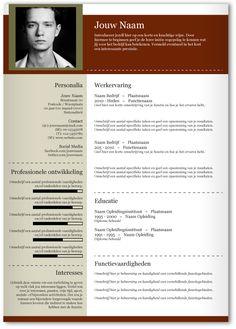 CV design 345. Gebruik dit CV ontwerp om je eigen CV te laten pimpen.