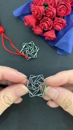 Cool Paper Crafts, Rope Crafts, Paper Crafts Origami, Diy Crafts Hacks, Diy Crafts For Gifts, Diy Home Crafts, Diy Arts And Crafts, Creative Crafts, Diy Paper