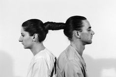 performance artists Marina Abramovic and Ulay (look up their story if you're unfamiliar)