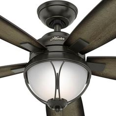 Led Indoor Outdoor Le Bronze Ceiling Fan With Light Kit 59233