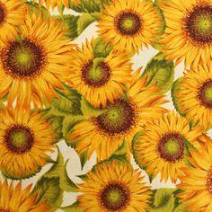 Decostof 280 cm Breed, Sunflowers