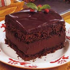 Mocha Layer Cake with Chocolate-Rum Cream Filling Recipe Desserts with ...