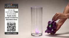 DIY Purple Lighted Centerpieces for Weddings and Events