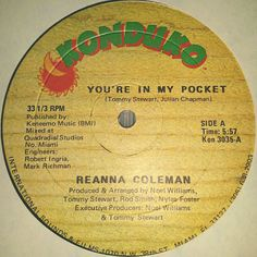 Vinyl Records Northern Soul Reanna Coleman - You're In My Pocket Records Sale Rare Records Vintage Vinyl