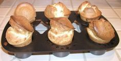 POPOVER :   1 3/4 cups whole milk or half-and-half, warmed   2 cups bread flour*  3/4 teaspoon salt  1/2 teaspoon baking powder  3 large eggs, room temperature  2 tablespoons melted unsalted butter  1 tablespoon Dijon mustard  http://whatscookingamerica.net/Bread/Popovers.htm