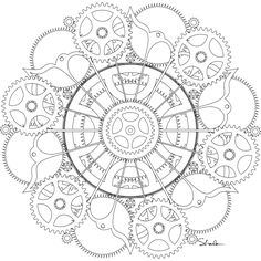 Free Steampunk Coloring Pages | Simply Inspired
