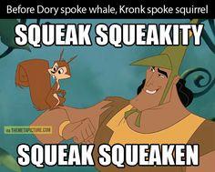 Before Dory spoke whale…