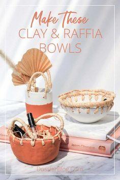 Diy Air Dry Clay, Diy Clay, Clay Crafts, Diy With Clay, Air Drying Clay, Diy Y Manualidades, Clay Bowl, Clay Art, Paper Clay