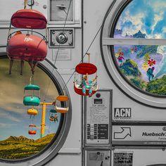 [Art work] Washing - 그래픽 디자인, 디지털 아트 Photo Wall Collage, Picture Wall, Collage Art, Painting Inspiration, Art Inspo, Emoji Photo, Travel Collage, Scenery Wallpaper, Retro Illustration