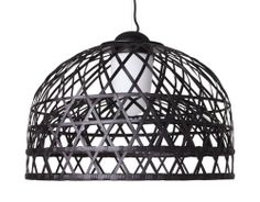 emperor suspension lamp  Design Neri, 2009  Bamboo rattan cage, aluminum, glass  Made in The Netherlands by Moooi